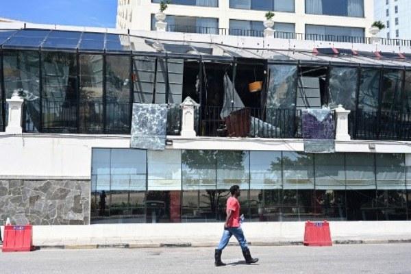 آثار الدمار في العاصمة الكولومبية اثر الاعتداءات