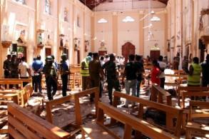 كنيسة سان سيباستيان في مدينة نيغومبو بشمال العاصمة السريلانكية كولومبو