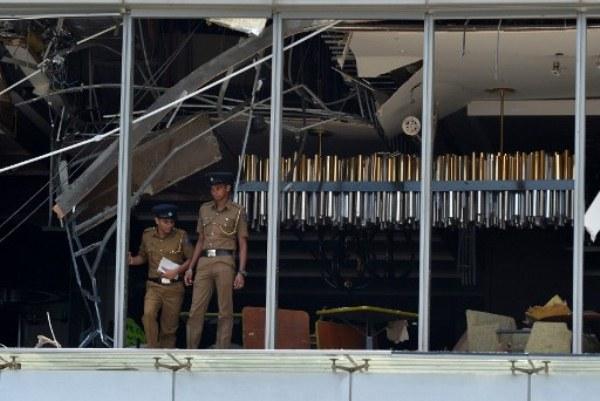آثار الدمار بعد سلسلة الاعتداءات في سريلانكا