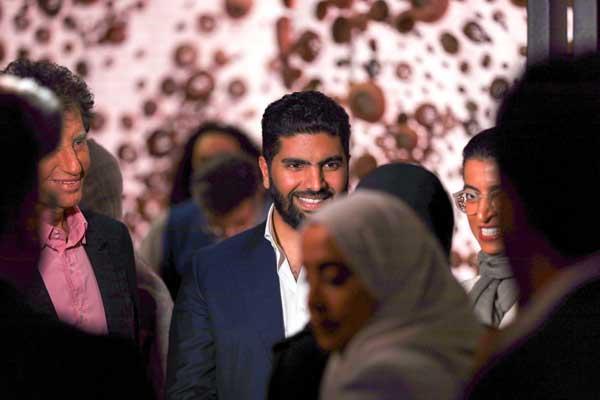 من افتتاح الجناح السعودي في المهرجان