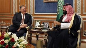 ولي العهد السعودي مع بومبيو في لقاء سابق- ارشيفية