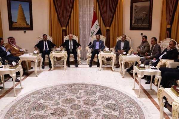 قادة المحور الوطني خلال اجتماع