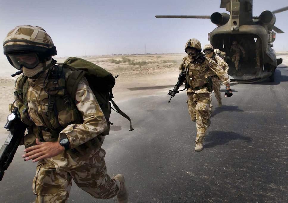 قوات بريطانية في العراق صورة عن (سكاي نيوز)