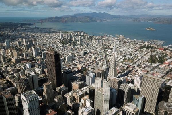 مشهد لوسط سان فرانسيسكو في كاليفورنيا في 6 فبراير 2019
