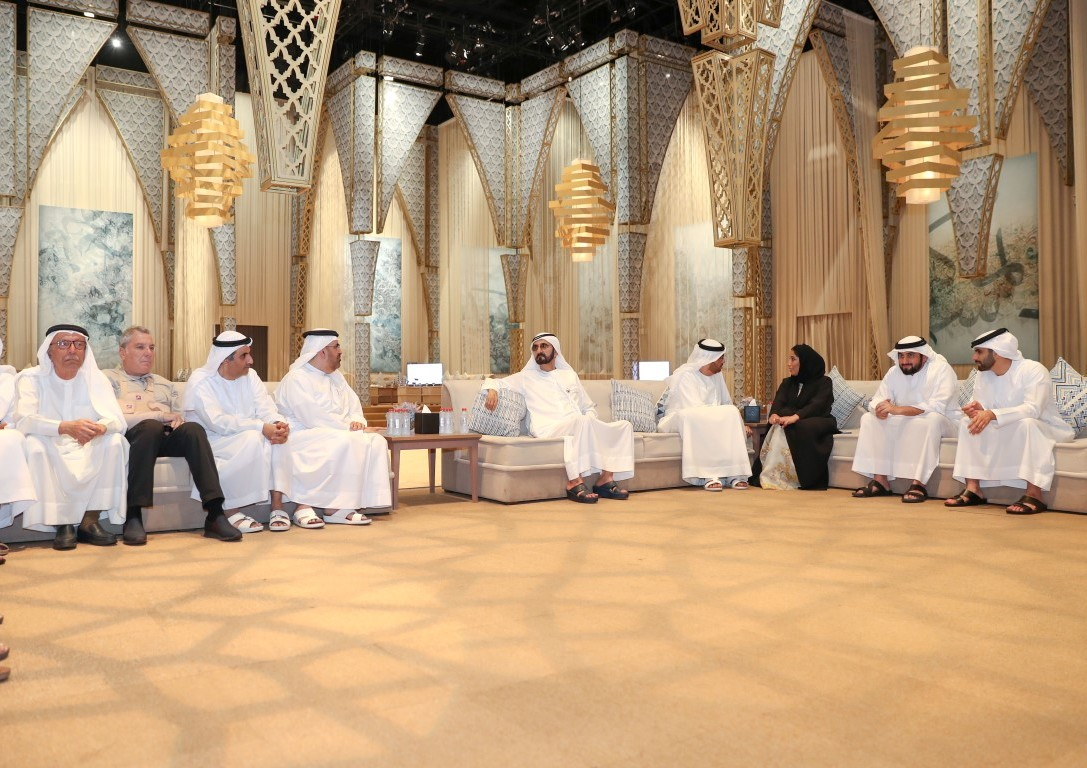 حاكم دبي خلال اللقاء الإعلامي الذي نظمه المكتب الإعلامي لحكومة دبي
