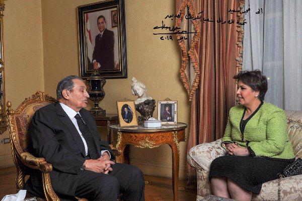 صورة من لقاء فجر السعيد مع مبارك