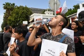 جانب من تظاهرة في العام 2018 لمواطنين يطالبون بحقهم في المجاهرة بالافطار