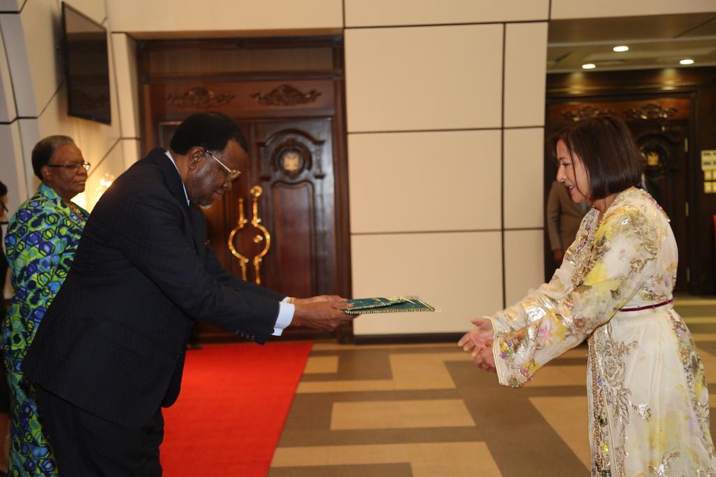 السفيرة السعدية العلوي تقدم أوراق اعتمادها لرئيس ناميبيا