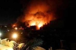 نيران صاروخ سقط في محيط السفارة الأميركية في وسط المنطقة الخضراء في بغداد