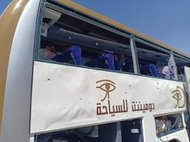 الحافلة المستهدفة (صورة من تويتر)