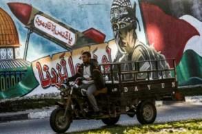 جدارية تمثل مقاتلًا من كتائب القسام في رفح