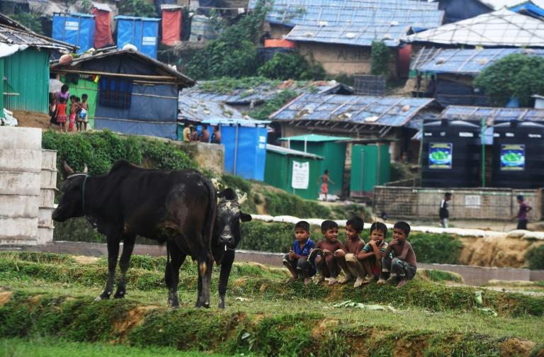مخيم للاجئين الروهينغا في منطقة اوخيا قرب كوكس بازار ببنغلادش، في 21 أغسطس 2018