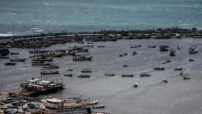 مرفأ الصيادين في قطاع غزة في 15 آذار/مارس 2019 ا ف ب