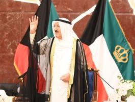 أمير الكويت في مبنى وزارة الخارجية يوم الثلاثاء - كونا