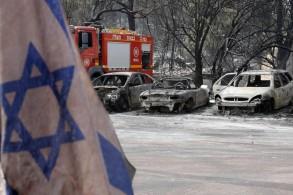 حرائق في عدة مناطق اسرائيلية بسبب ارتفاع الحرارة