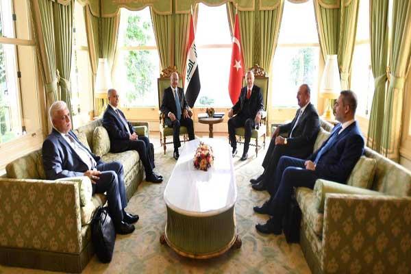 الرئيسان صالح وأردوغان خلال مباحثاتهما في أنقرة