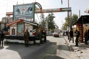 مدخل مخيم عين الحلوة للفلسطينيين في جنوب لبنان