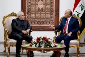 ظريف مجتمعا مع الرئيس صالح