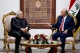 ظريف يبحث في بغداد دورها في الأزمة الأميركية الإيرانية وحلها سلميا