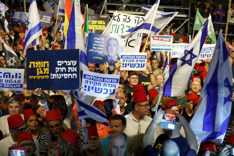 تظاهرة ضد نتانياهو في تل أبيب في 25 مايو 2019
