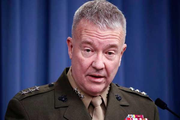 القائد الأعلى للقوات الأميركية في الشرق الأوسط فرانك ماكنزي