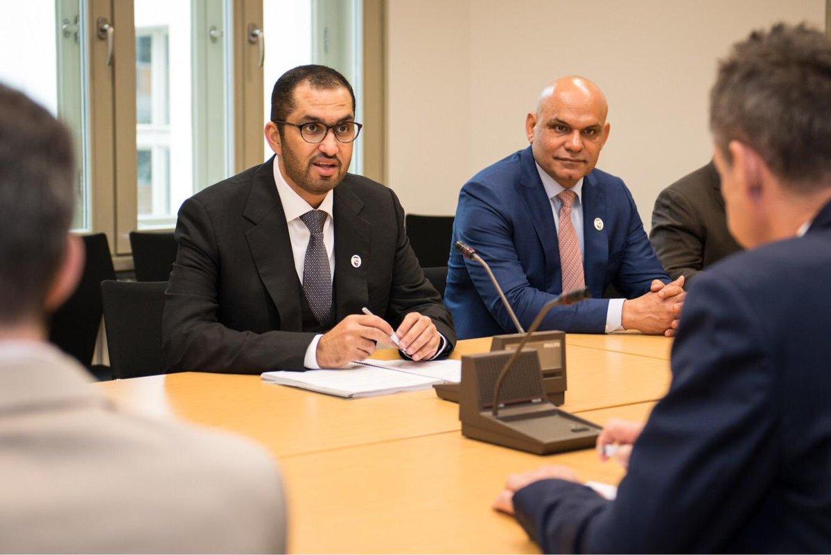 سلطان الجابر وزير الدولة والمبعوث الإماراتي لألمانيا