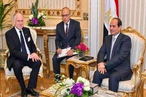 السيسي مستقبلًا رئيس الكونغرس اليهودي