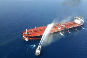 صورة وزعتها وكالة الأنباء الإيرانية تسنيم لناقلة نفط نروجية تعرضت لهجوم في بحر عمان في 13 يونيو 2019