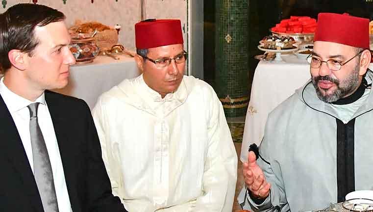 عاهل المغرب مستقبلا كوشنر خلال جولته الأخيرة