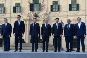 دول جنوب أوروبا السبع المجتمعون في مالطا