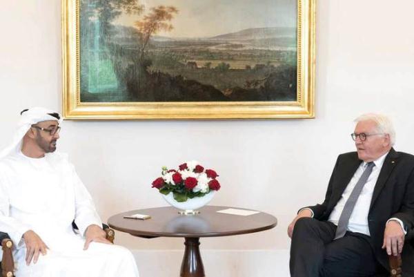 ولي عهد أبو ظبي الشيخ محمد بن زايد ورئيس ألمانيا فرانك فالتر شتاينماير