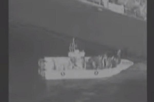صورة من الفيديو الذي نشره الجيش الأميركي