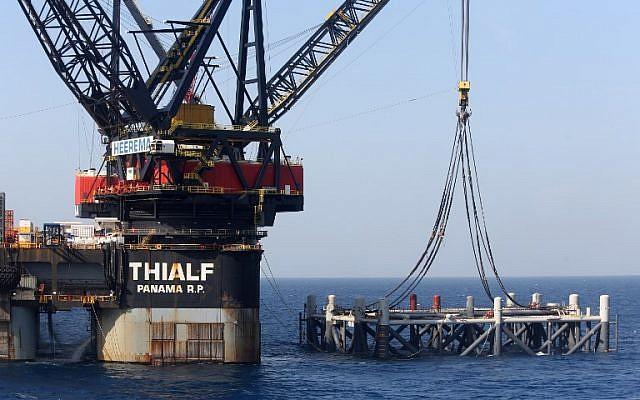 حقل ليفياثان للغاز الطبيعي في البحر الأبيض المتوسط ويقع على بعد 81 ميلًا غرب حيفا - AFP