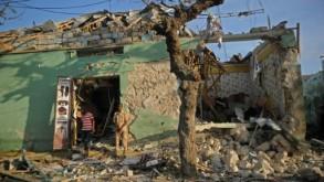 مبنى مدمر في العاصمة الصومالية مقديشو بفعل تفجير سيارة مفخخة في 22 آذار/مارس 2018 ا ف ب/ارشيف