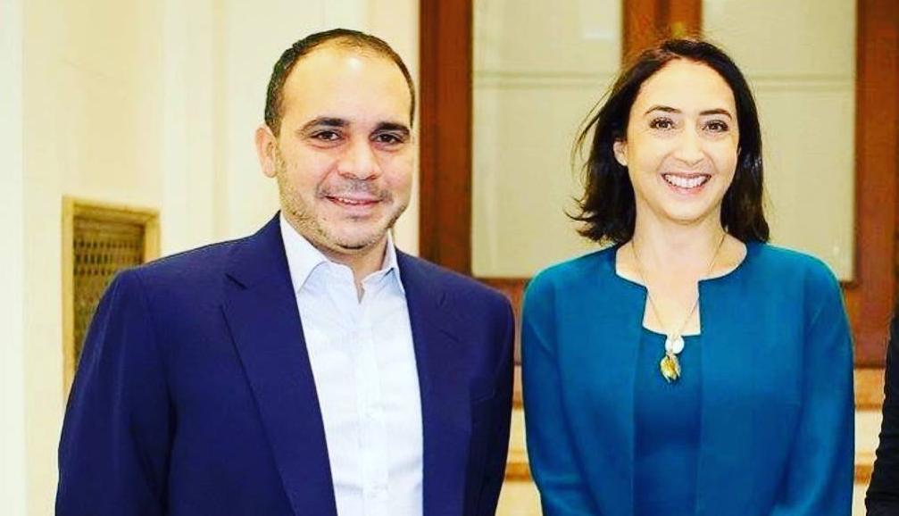 الأمير علي بن الحسين وزوجته الأميرة ريم