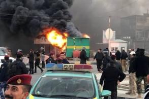 حرائق في البصرة خلال احتجاجات سابقة