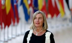 وزيرة الخارجية الأوروبية فيديريكا موغيريني تصل لحضور قمة أوروبية في بروكسل في 20 حزيران/يونيو 2019