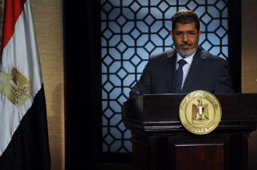 مرسي في خطاب عندما كان رئيسا لمصر