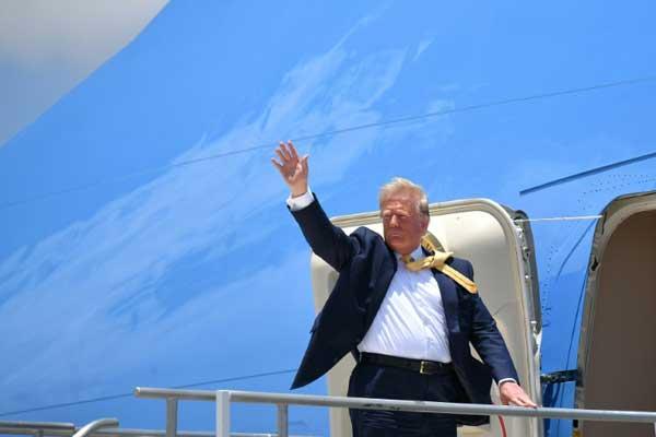 الرئيس الأميركي دونالد ترمب في فلوريدا في 19 يونيو 2019