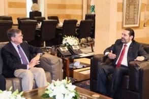 لقاء بين رئيس الوزراء اللبناني ومساعد وزير الخارجية الأميركي لشؤون الشرق الأدنى في بيروت