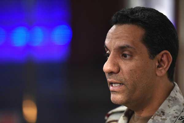 المتحدث باسم التحالف بقيادة السعودية العقيد الركن تركي المالكي في الرياض في 21 مايو 2019