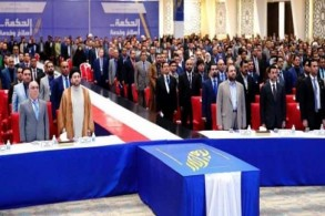 الحكيم مترئسًا اجتماعًا للمؤتمر العام لتيار الحكمة الوطني