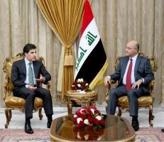 الرئيس صالح ونجيرفان بارزاني