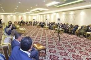 نواب المحافظات السنية العراقية المحررة من داعش خلال اجتماعهم