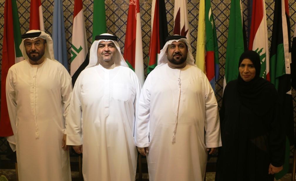 أعضاء البرلمان الاماراتي المشاركون في اجتماعات البرلمان العربي (وام)