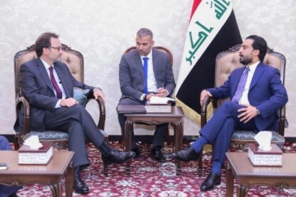 الحلبوسي مجتمعا مع نائب وزير الخارجية الأميركي