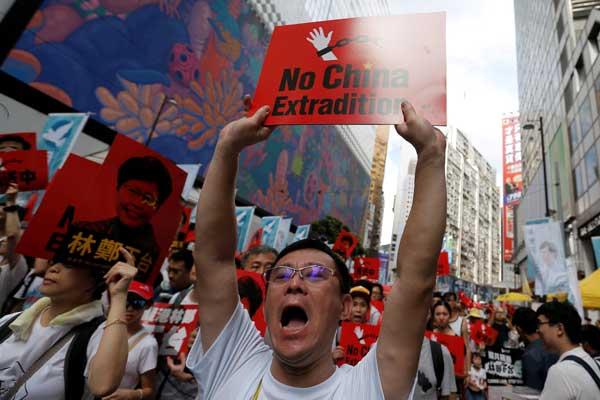 من تظاهرات هونغ كونغ الأخيرة