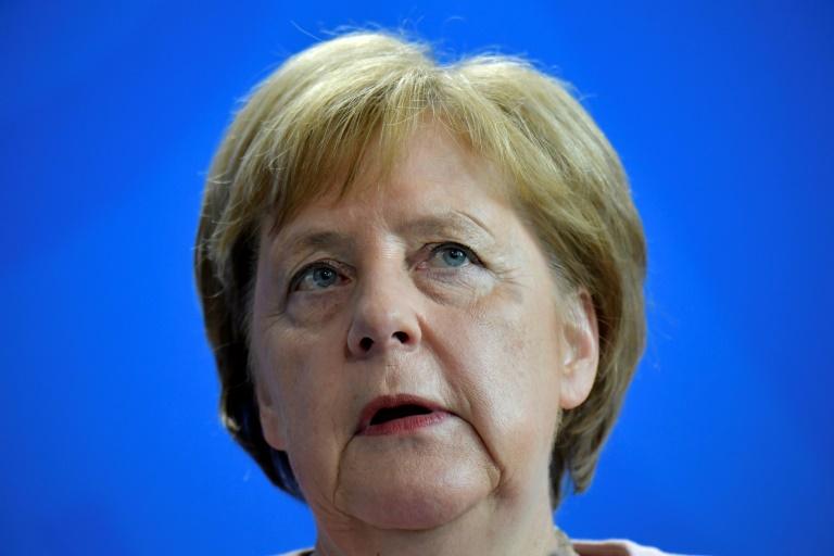 المستشارة الالمانية انغيلا ميركل في برلين في 18 حزيران/يونيو 2019.