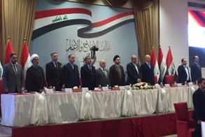 قادة تحالف الإصلاح والإعمار العراقي خلال اجتماع دوري