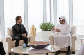 الشيخ مكتوم بن محمد مع جاك دورسي مؤسس تويتر